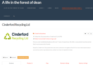 Claim your listing in the forest of dean directory