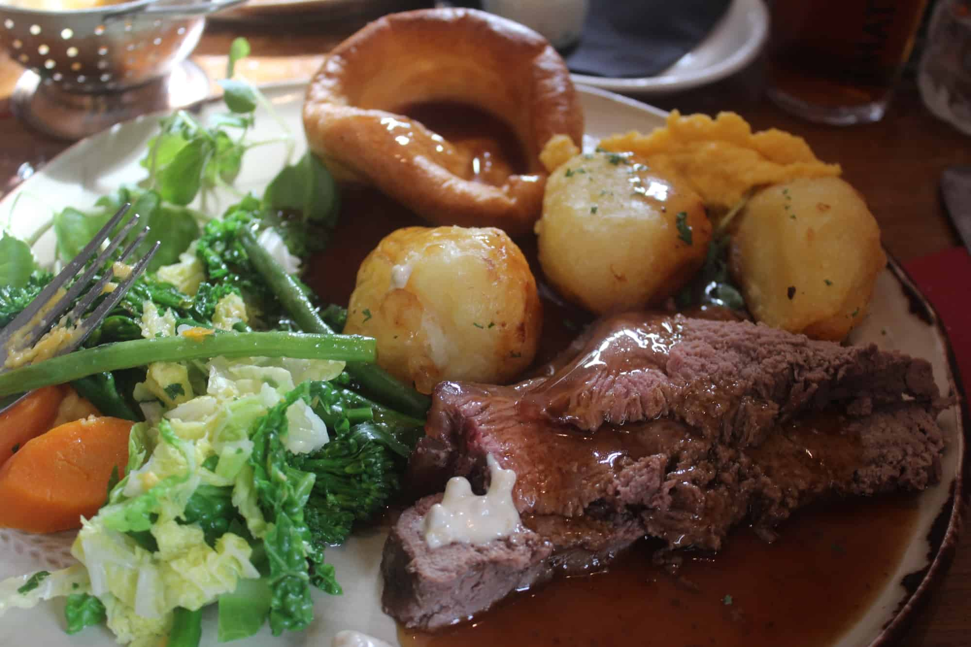 Sunday lunch at the Miners Sling